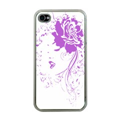 Purple Woman Of Chronic Pain Apple Iphone 4 Case (clear)
