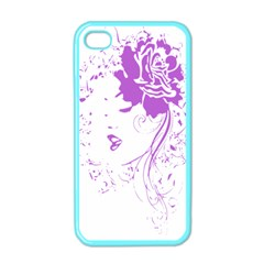 Purple Woman Of Chronic Pain Apple Iphone 4 Case (color)