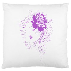 Purple Woman Of Chronic Pain Large Cushion Case (two Sided)