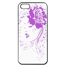 Purple Woman Of Chronic Pain Apple Iphone 5 Seamless Case (black)