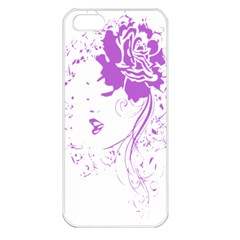 Purple Woman Of Chronic Pain Apple Iphone 5 Seamless Case (white) by FunWithFibro
