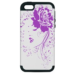 Purple Woman Of Chronic Pain Apple Iphone 5 Hardshell Case (pc+silicone)