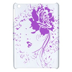 Purple Woman Of Chronic Pain Apple Ipad Mini Hardshell Case by FunWithFibro