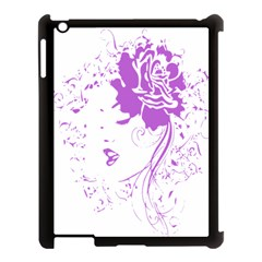 Purple Woman Of Chronic Pain Apple Ipad 3/4 Case (black) by FunWithFibro