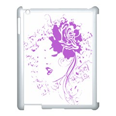Purple Woman Of Chronic Pain Apple Ipad 3/4 Case (white) by FunWithFibro