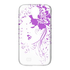 Purple Woman Of Chronic Pain Samsung Galaxy S4 Classic Hardshell Case (pc+silicone)
