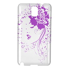 Purple Woman Of Chronic Pain Samsung Galaxy Note 3 N9005 Hardshell Case by FunWithFibro