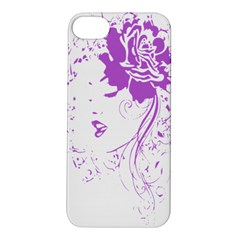 Purple Woman Of Chronic Pain Apple Iphone 5s Hardshell Case by FunWithFibro