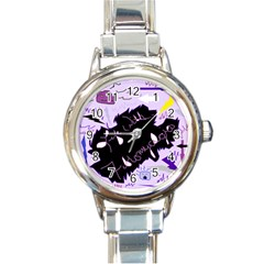 Life With Fibromyalgia Round Italian Charm Watch by FunWithFibro