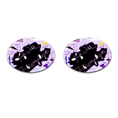 Life With Fibromyalgia Cufflinks (oval) by FunWithFibro