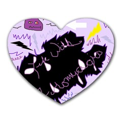 Life With Fibromyalgia Mouse Pad (heart) by FunWithFibro
