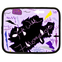Life With Fibromyalgia Netbook Sleeve (large) by FunWithFibro
