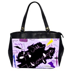 Life With Fibromyalgia Oversize Office Handbag (two Sides) by FunWithFibro