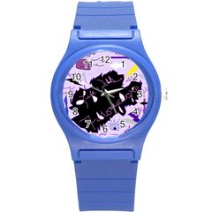 Life With Fibromyalgia Plastic Sport Watch (small) by FunWithFibro