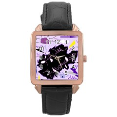 Life With Fibromyalgia Rose Gold Leather Watch