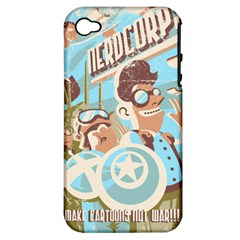 Nerdcorps Apple Iphone 4/4s Hardshell Case (pc+silicone) by Contest1889920