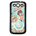 Nerdcorps Samsung Galaxy S3 Back Case (Black) Front