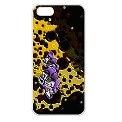 Violet Apple Iphone 5 Seamless Case (white)