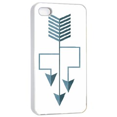 Arrow Paths Apple Iphone 4/4s Seamless Case (white)