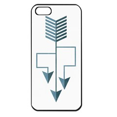 Arrow Paths Apple Iphone 5 Seamless Case (black)