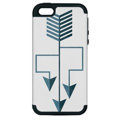 Arrow Paths Apple Iphone 5 Hardshell Case (pc+silicone) by Contest1888309