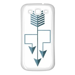 Arrow Paths Samsung Galaxy S3 Back Case (white) by Contest1888309