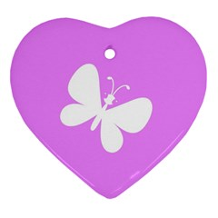 Butterfly Heart Ornament by Colorfulart23