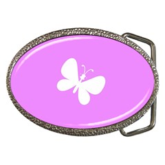 Butterfly Belt Buckle (oval) by Colorfulart23