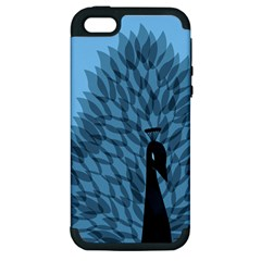 Flaunting Feathers Apple Iphone 5 Hardshell Case (pc+silicone) by Contest1893972