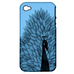 Flaunting Feathers Apple Iphone 4/4s Hardshell Case (pc+silicone)