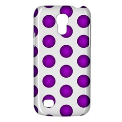 Purple And White Polka Dots Samsung Galaxy S4 Mini (gt I9190) Hardshell Case  by Colorfulart23
