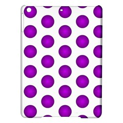 Purple And White Polka Dots Apple Ipad Air Hardshell Case by Colorfulart23