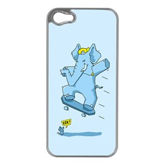 The Ollie-phant Apple Iphone 5 Case (silver) by Contest1893972