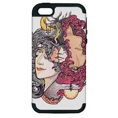 Kiss ! Apple Iphone 5 Hardshell Case (pc+silicone) by Contest1731890