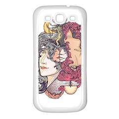 Kiss ! Samsung Galaxy S3 Back Case (white) by Contest1731890