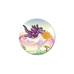 The Wee Purple Dragon Flying Golf Ball Marker 4 Pack by CaterinaBassano