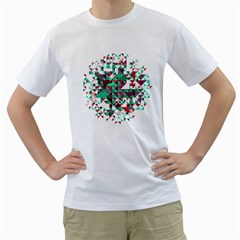 Kaleidoscope On Black Men s T-shirt (white)  by Contest1888822