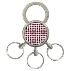 Patriot Stars 3 Ring Key Chain by StuffOrSomething