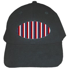 Patriot Stripes Black Baseball Cap by StuffOrSomething