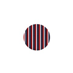 Patriot Stripes 1  Mini Button Magnet by StuffOrSomething