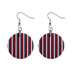 Patriot Stripes Mini Button Earrings by StuffOrSomething