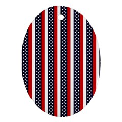 Patriot Stripes Oval Ornament (two Sides) by StuffOrSomething