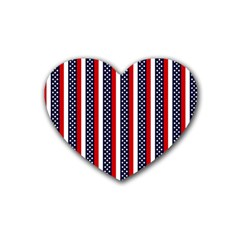 Patriot Stripes Drink Coasters (heart) by StuffOrSomething