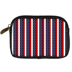 Patriot Stripes Digital Camera Leather Case by StuffOrSomething