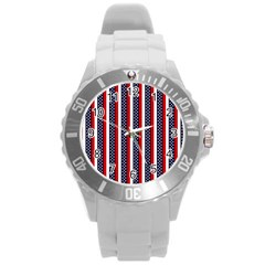 Patriot Stripes Plastic Sport Watch (large)