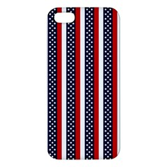 Patriot Stripes Apple Iphone 5 Premium Hardshell Case