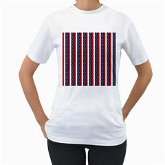 Patriot Stripes Women s T Shirt (white)