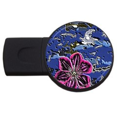 Flooded Flower 4gb Usb Flash Drive (round) by Rbrendes