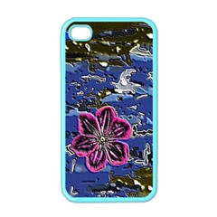 Flooded Flower Apple Iphone 4 Case (color) by Rbrendes