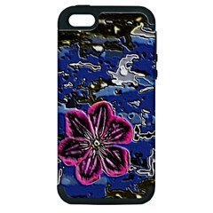 Flooded Flower Apple Iphone 5 Hardshell Case (pc+silicone) by Rbrendes